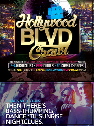 Hollywood Club Crawl LA Top Clubs